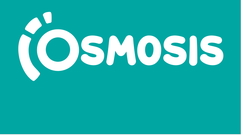 Osmosis logo with a green background.