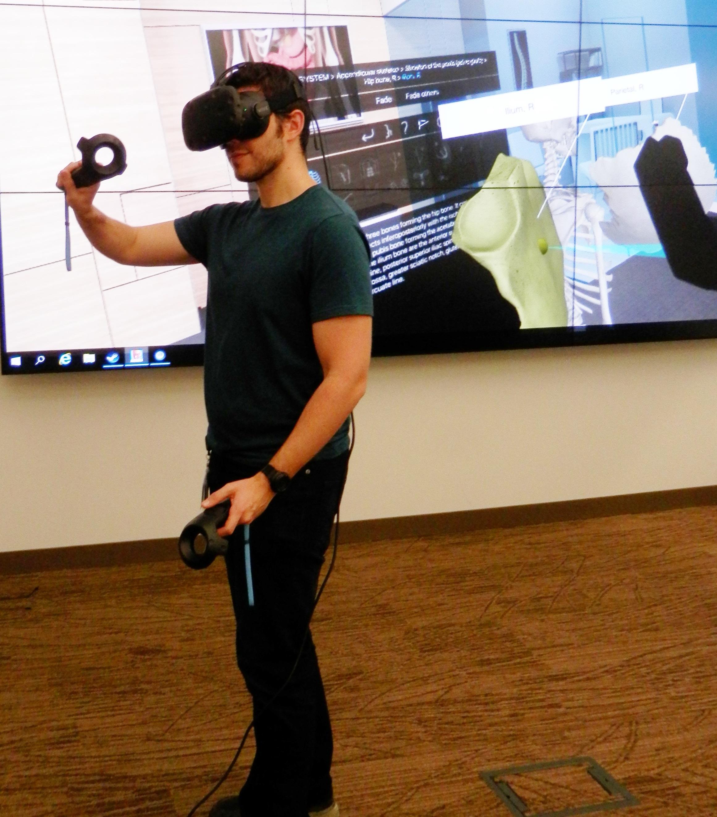 Brennan Ross using VIVE headset