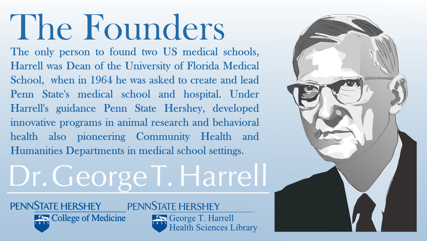 Founders series harrell health sciences library research and state college of medicine and penn state health milton s hershey medical center august 23 is the anniversary of the 50 million dollar phone call malvernweather Images