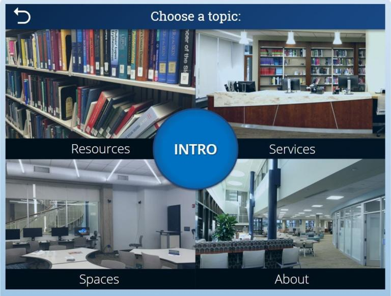 Image shows the screenshot of the landing page of library orientation eLearning module.