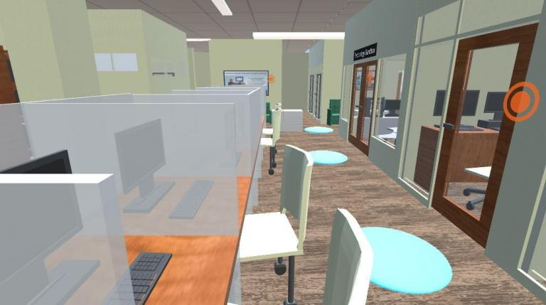 Image shows the screenshot of the library virtual tour.