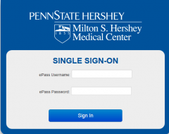 Hershey ePass Authentication Page