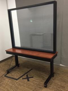 Light board for writing notes, instructions, and drawings