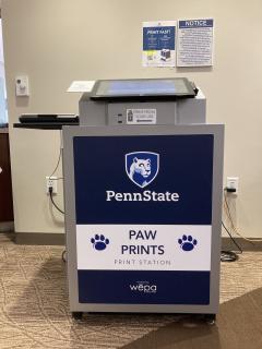 PAW Prints kiosk