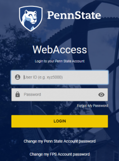 Redesigned PSU WebAccess